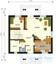 78-proekt.ru - Проект Одноквартирного Дома №223.  План Первого Этажа