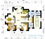 78-proekt.ru - Проект Одноквартирного Дома №36.  План Первого Этажа