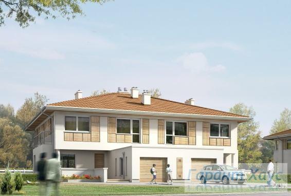 Проект двухквартирного дома № 12