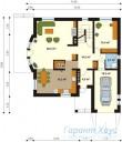 78-proekt.ru - Проект Одноквартирного Дома №148.  План Первого Этажа