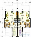 78-proekt.ru - Проект Двухквартирного Дома №12.  План Первого Этажа