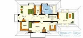 78-proekt.ru - Проект Одноквартирного Дома №325.  План Второго Этажа