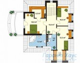 78-proekt.ru - Проект Одноквартирного Дома №146.  План Второго Этажа