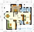78-proekt.ru - Проект Одноквартирного Дома №329.  План Первого Этажа
