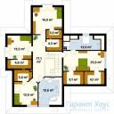 78-proekt.ru - Проект Одноквартирного Дома №311.  План Второго Этажа