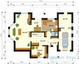 78-proekt.ru - Проект Одноквартирного Дома №259.  План Первого Этажа
