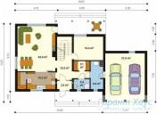 78-proekt.ru - Проект Одноквартирного Дома №82.  План Первого Этажа
