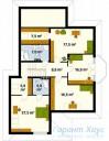 78-proekt.ru - Проект Одноквартирного Дома №139.  План Второго Этажа
