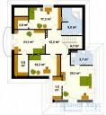 78-proekt.ru - Проект Одноквартирного Дома №215.  План Второго Этажа