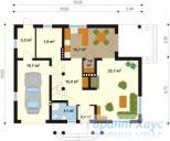 78-proekt.ru - Проект Одноквартирного Дома №66.  План Первого Этажа