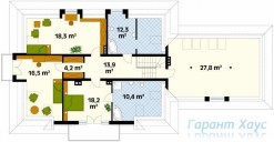 78-proekt.ru - Проект Одноквартирного Дома №324.  План Второго Этажа