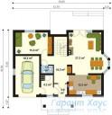 78-proekt.ru - Проект Одноквартирного Дома №231.  План Первого Этажа