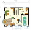 78-proekt.ru - Проект Одноквартирного Дома №109.  План Первого Этажа