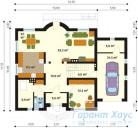 78-proekt.ru - Проект Одноквартирного Дома №257.  План Первого Этажа