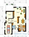 78-proekt.ru - Проект Одноквартирного Дома №138.  План Первого Этажа