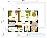 78-proekt.ru - Проект Одноквартирного Дома №294.  План Первого Этажа