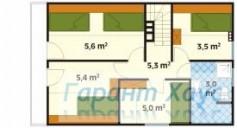 78-proekt.ru - Проект Дачного Дома №14.  План Второго Этажа