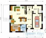 78-proekt.ru - Проект Одноквартирного Дома №211.  План Первого Этажа