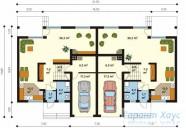 78-proekt.ru - Проект Двухквартирного Дома №4.  План Первого Этажа