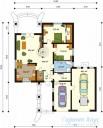 78-proekt.ru - Проект Одноквартирного Дома №54.  План Первого Этажа