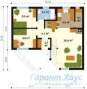 78-proekt.ru - Проект Дачного Дома №16.  План Первого Этажа