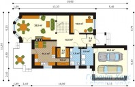 78-proekt.ru - Проект Одноквартирного Дома №13.  План Первого Этажа