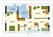 78-proekt.ru - Проект Одноквартирного Дома №79.  План Второго Этажа
