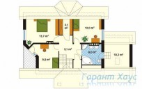 78-proekt.ru - Проект Одноквартирного Дома №190.  План Второго Этажа