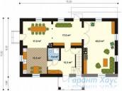 78-proekt.ru - Проект Одноквартирного Дома №342.  План Первого Этажа