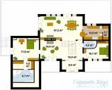 78-proekt.ru - Проект Одноквартирного Дома №77.  План Второго Этажа