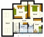 78-proekt.ru - Проект Одноквартирного Дома №174.  План Второго Этажа