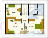 78-proekt.ru - Проект Одноквартирного Дома №133.  План Второго Этажа