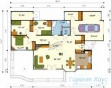 78-proekt.ru - Проект Одноквартирного Дома №80.  План Первого Этажа