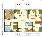 78-proekt.ru - Проект Одноквартирного Дома №236.  План Первого Этажа