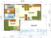 78-proekt.ru - Проект Дачного Дома №3.  План Первого Этажа