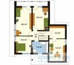 78-proekt.ru - Проект Одноквартирного Дома №270.  План Второго Этажа