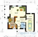 78-proekt.ru - Проект Одноквартирного Дома №27.  План Первого Этажа
