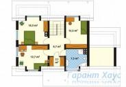 78-proekt.ru - Проект Одноквартирного Дома №81.  План Второго Этажа