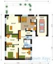 78-proekt.ru - Проект Одноквартирного Дома №208.  План Первого Этажа