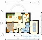 78-proekt.ru - Проект Одноквартирного Дома №95.  План Первого Этажа