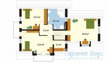 78-proekt.ru - Проект Одноквартирного Дома №226.  План Второго Этажа