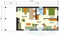 78-proekt.ru - Проект Дачного Дома №17.  План Первого Этажа