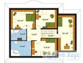 78-proekt.ru - Проект Одноквартирного Дома №257.  План Второго Этажа