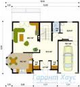 78-proekt.ru - Проект Одноквартирного Дома №133.  План Первого Этажа