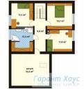 78-proekt.ru - Проект Одноквартирного Дома №228.  План Второго Этажа