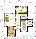 78-proekt.ru - Проект Одноквартирного Дома №183.  План Первого Этажа