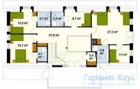 78-proekt.ru - Проект Одноквартирного Дома №137.  План Второго Этажа