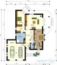 78-proekt.ru - Проект Одноквартирного Дома №216.  План Первого Этажа