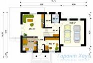 78-proekt.ru - Проект Одноквартирного Дома №76.  План Первого Этажа