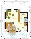 78-proekt.ru - Проект Одноквартирного Дома №32.  План Первого Этажа